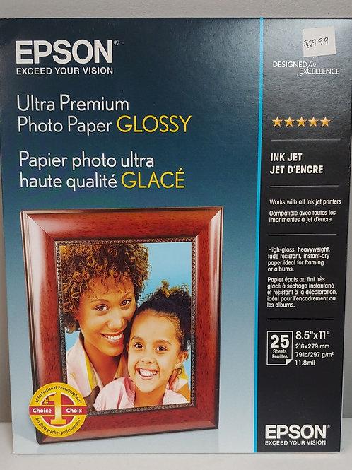 "Epson Ultra Premium Photo Paper Glossy 8½"" x 11"""