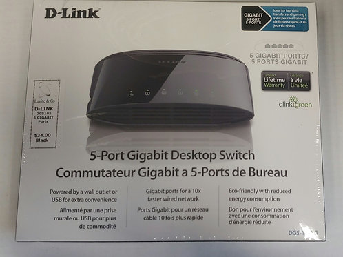 D-Link 5 Port Gigabit Desktop Switch DGS-1005G