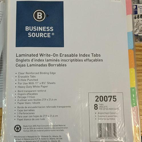 Laminated Write-on Erasable Tabs