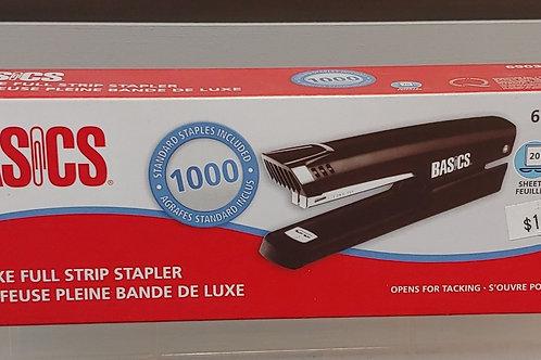 Basics Deluxe Full Strip Stapler 20 Sheet Capacity