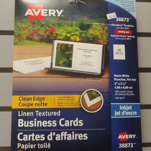 "Avery Linen Textured Business Cards 2"" x 3½"""