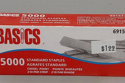 Basics 5,000 Standard Staples Chisel Point