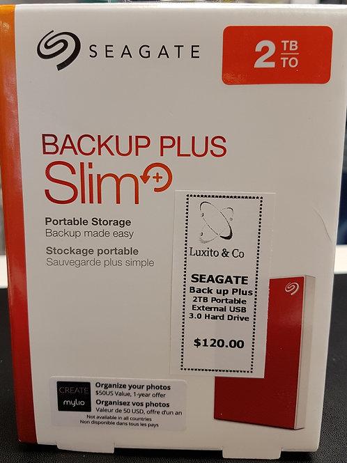 Seagate 2TB external hard drive