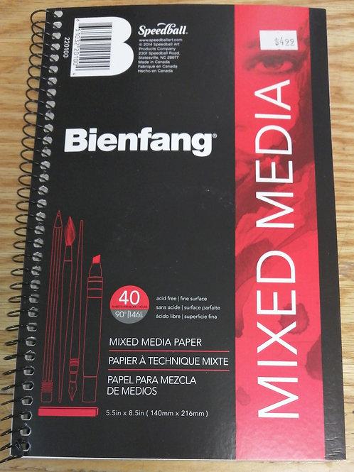 Mixed media small sketchbook