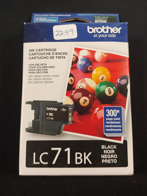 Brother LC71BK Ink