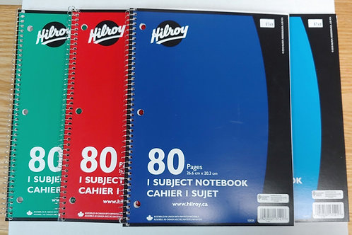 Hilroy 80 Pages Coiled Notebook
