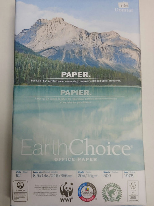 Earth Choice Legal Sized 20lb 92 Bright Paper