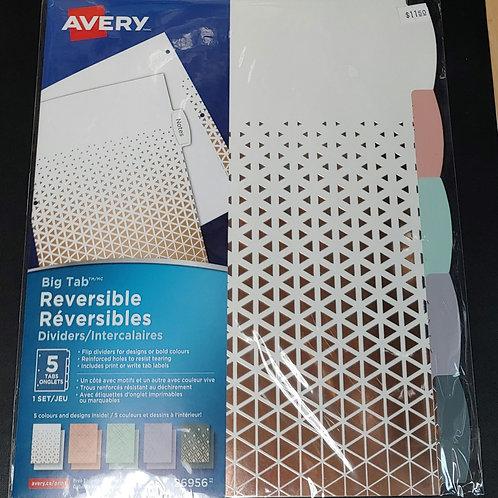Avery Big Tab Reversible Binder Dividers