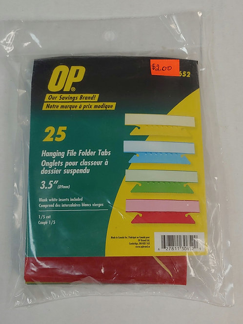 OP Hanging File Folder Tabs 3.5""