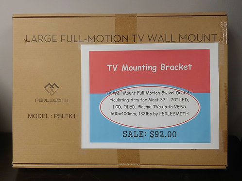 "TV Mounting Bracket Full Motion Swivel Dual Arm 37""-70"""