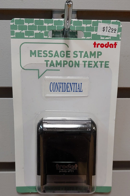 "Trodat Self-Inking Message Stamp ""Confidential"""