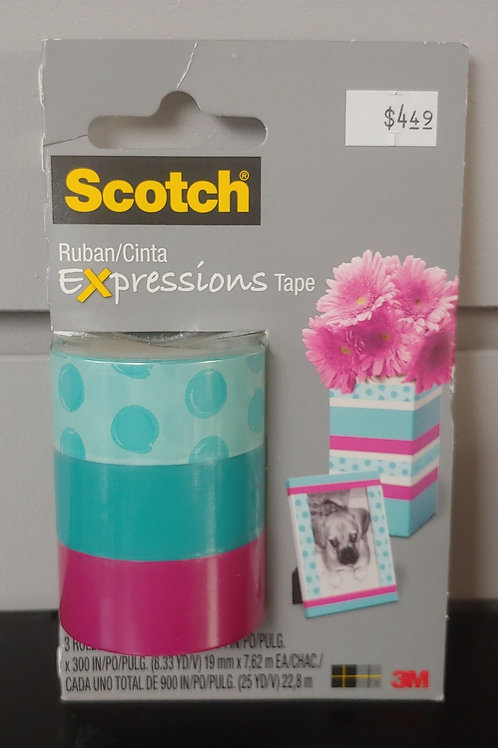 Scotch Expressions Tape 3 Rolls