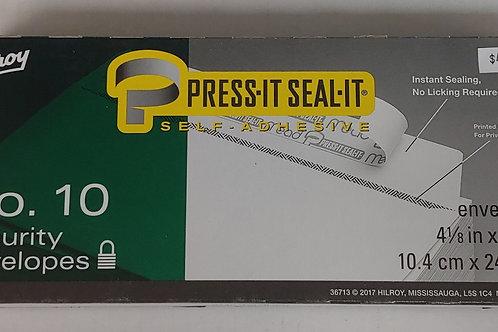 Hilroy No. 10 Security Envelopes Press It, Seal It 45 Envelopes