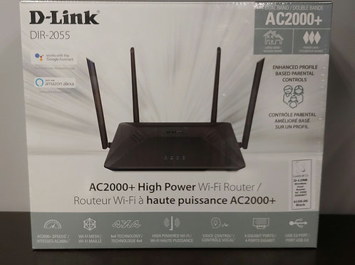 D-Link DIR-2055 Wireless Dual Router AC 2000 Gigabit