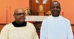 Fr Ricklan Mallya and Fr Louis Mendy