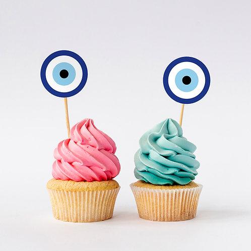 מדבקות מיתוג עגולות - עין הרע