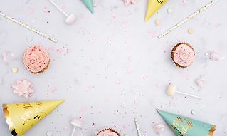 top-view-birthday-cones-with-straws-cupc