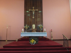 Altar of church