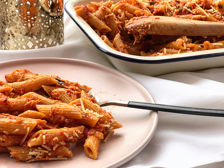 Disguise your simple food : Cheesy Tomato Pasta - Ready in 15 minutes
