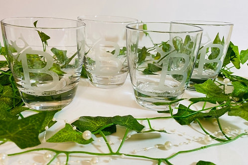 Personalized Etched Glasses Set (4)