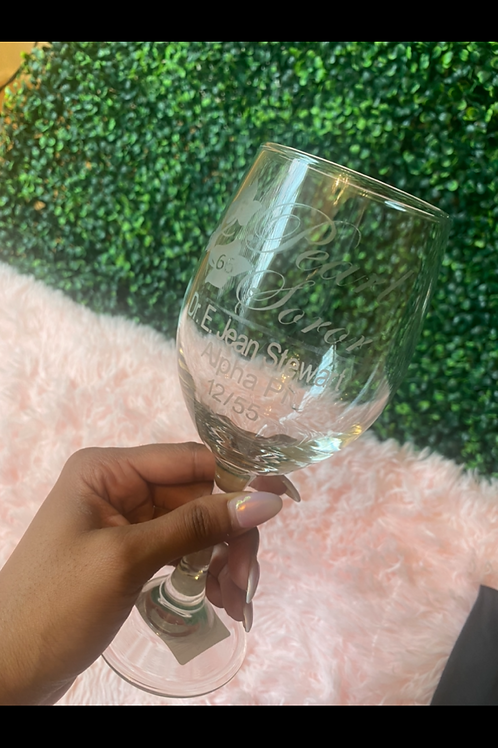 Silver, Golden, and Pearl Wine Glasses