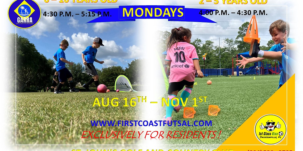 Fall Soccer Practices at St. Johns Golf and Country Club 2021