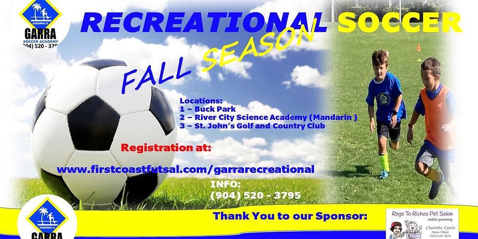 GARRA REC FALL SESSION 2- 7 WEEKS