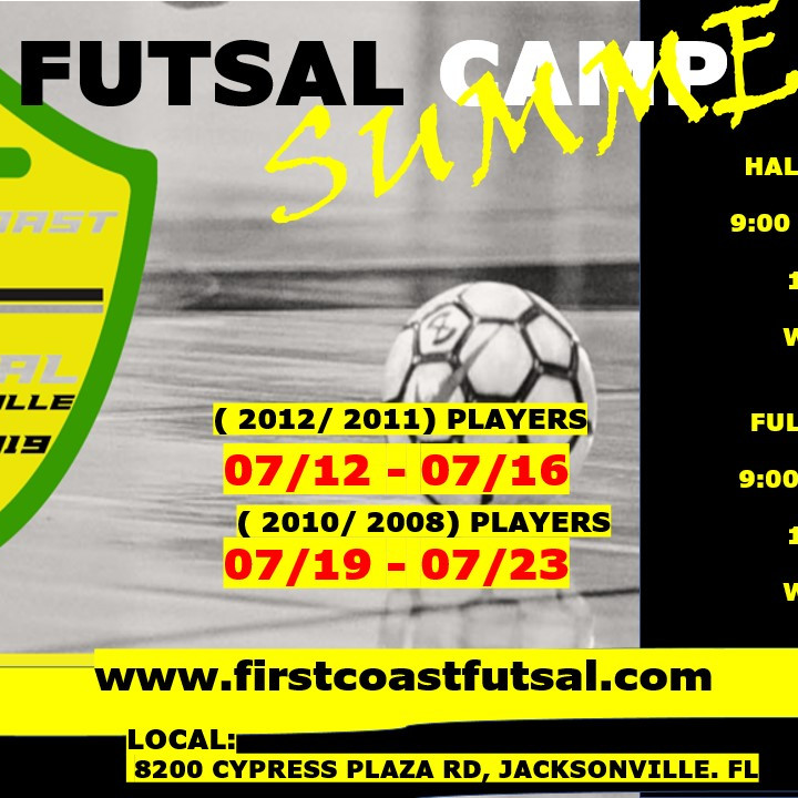 FUTSAL SUMMER CAMP - (JULY 19TH - JULY 23RD) (2010-2009-2008) players
