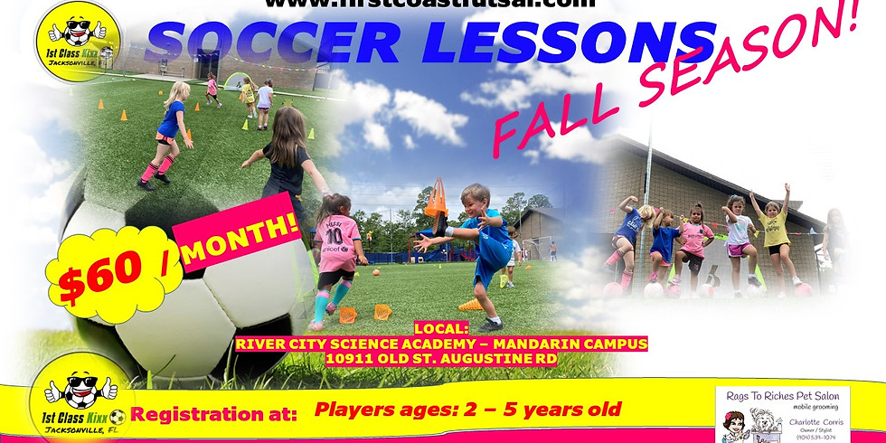 2 - 5 YEARS OLD SOCCER - R.C.S.A. - Mandarin Campus