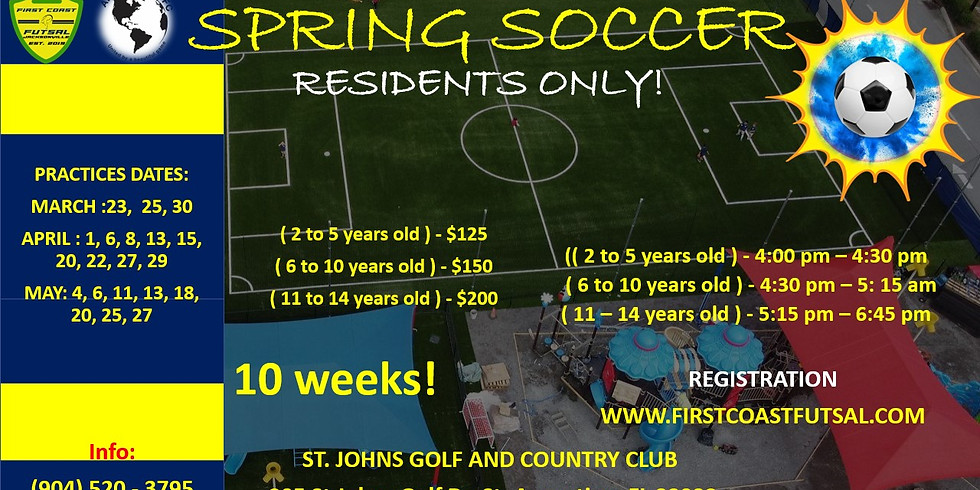 Spring Soccer Practices at St. Johns Golf and Country Club