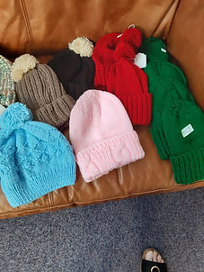 Red Bobble Hats