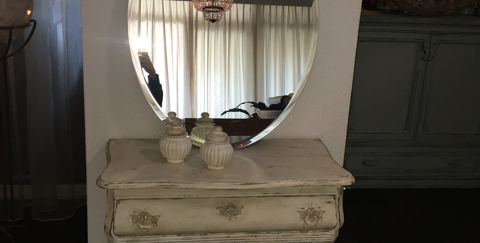Facet geslepen spiegel ovaal