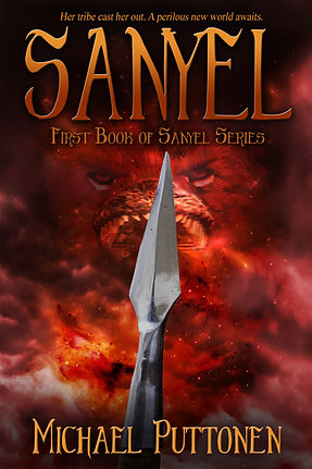 This is the cover of author Michael Puttonen's book, Sanyel.