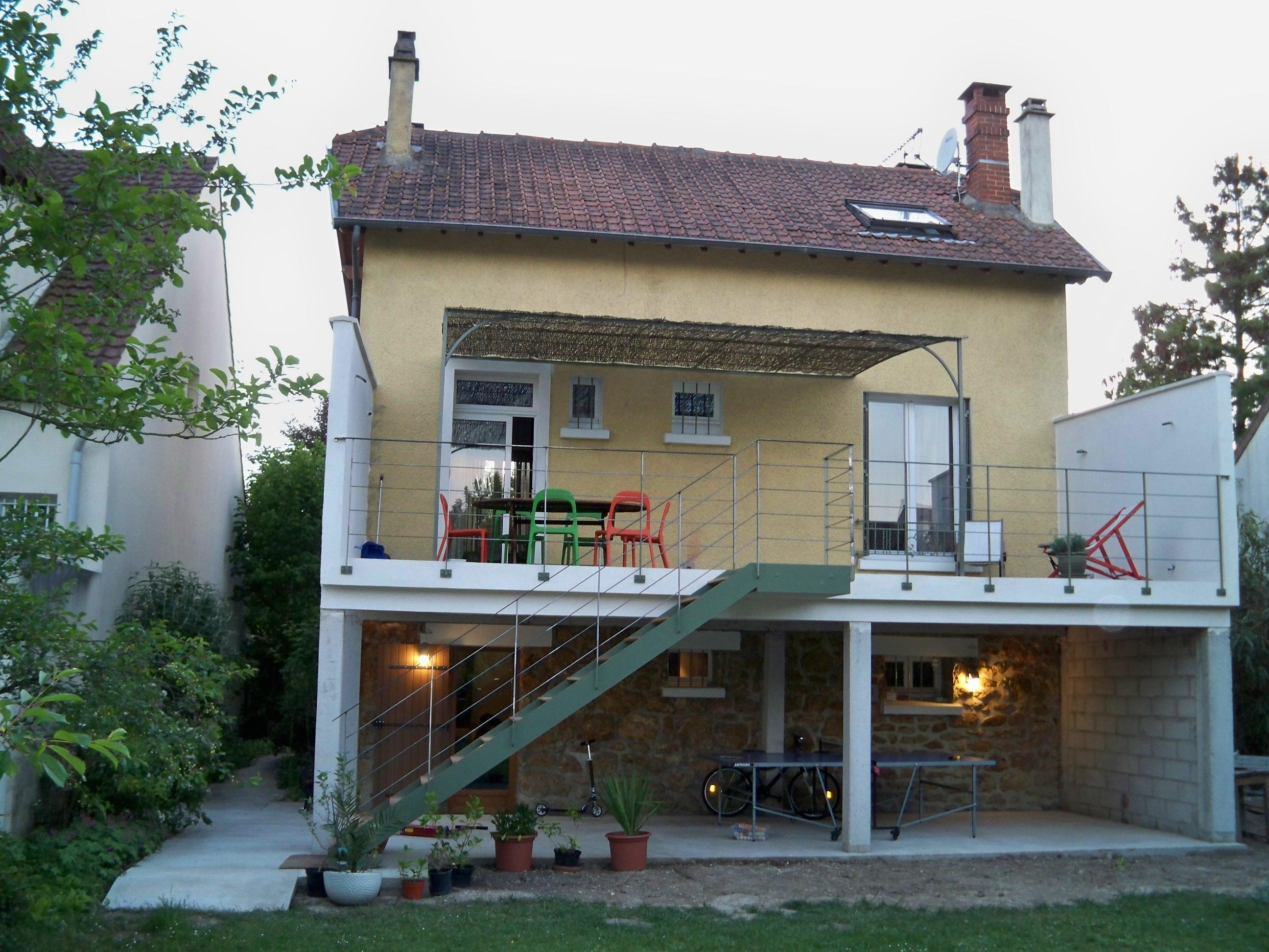 aménagement de la terrasse