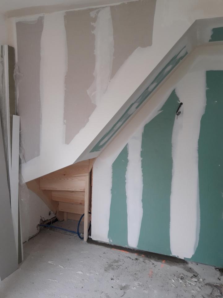 habillage de l'escalier