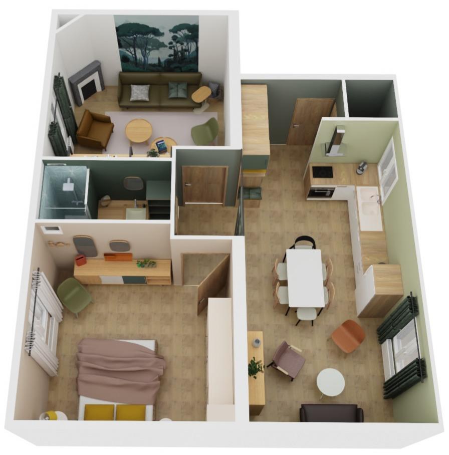 projection de l'appartement après rénovation