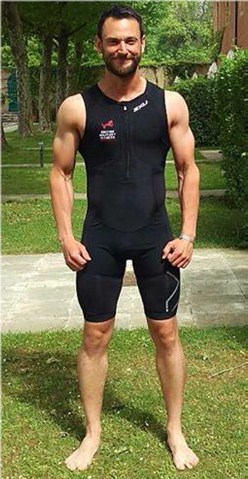 Tom in 2016 before an Ironman race