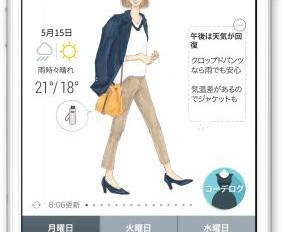 天気予報とファッションレコメン