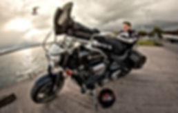 Doublearchangel on his  dream bike