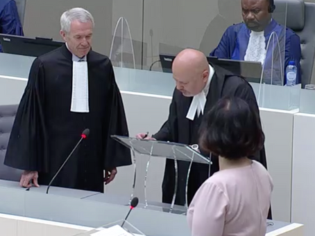 ICCBA President attends Swearing-In Ceremony for New ICC Prosecutor
