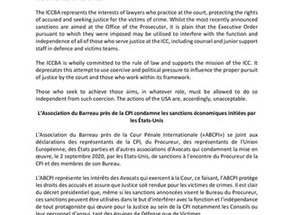ICCBA Press Release condemning economic sanctions initiated by USA
