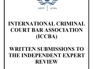 ICCBA Submissions to the Independent Expert Review