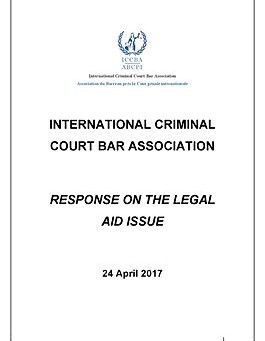 ICCBA - Comments on Registry Concept Paper Legal Aid