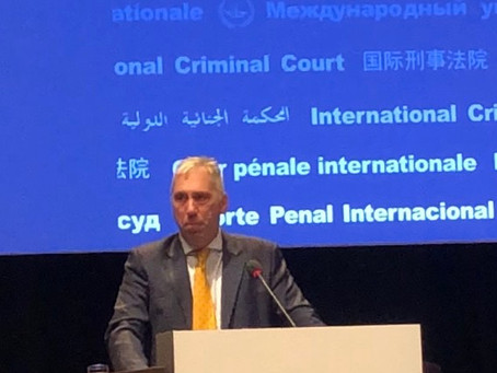 ICCBA President Delivers Statement at Assembly of States Parties 2019