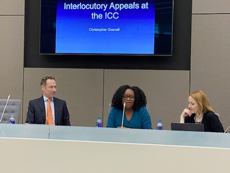 ICCBA Conducts Training on Interlocutory Appeals at the ICC