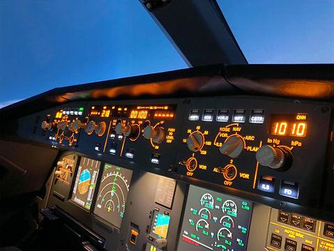 Кабина тренажера Airbus A320