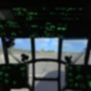 кабина тренажера вертолета