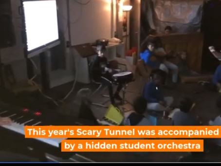 Live orchestra during Scary Tunnel