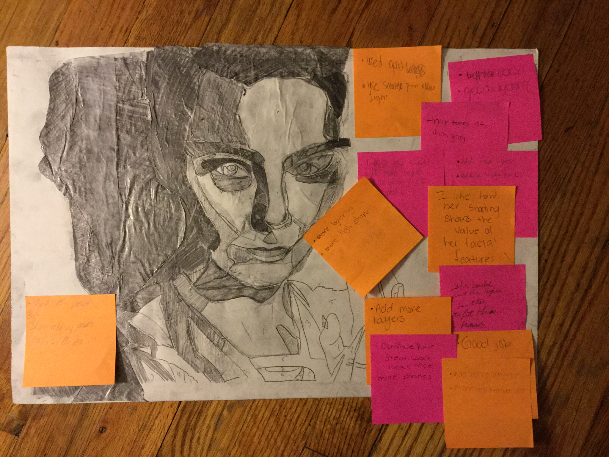 Feedback on post-it paper
