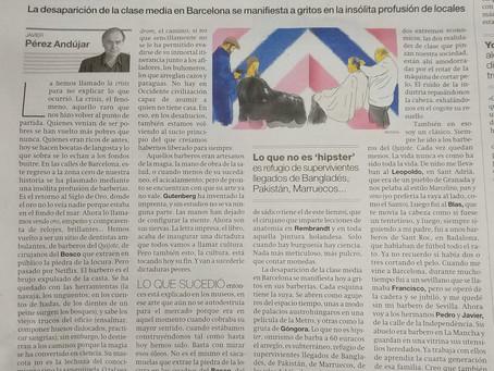 La Barberia sale en un articulo de El Periódico de Catalunya